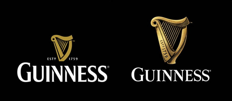subtle and successful logo evolutions guinness