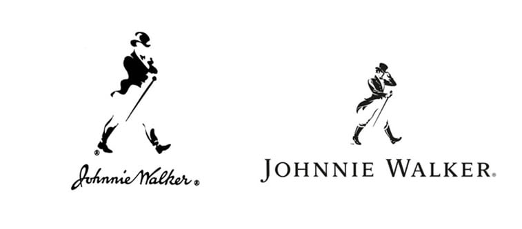 subtle and successful logo evolutions johnnie walker