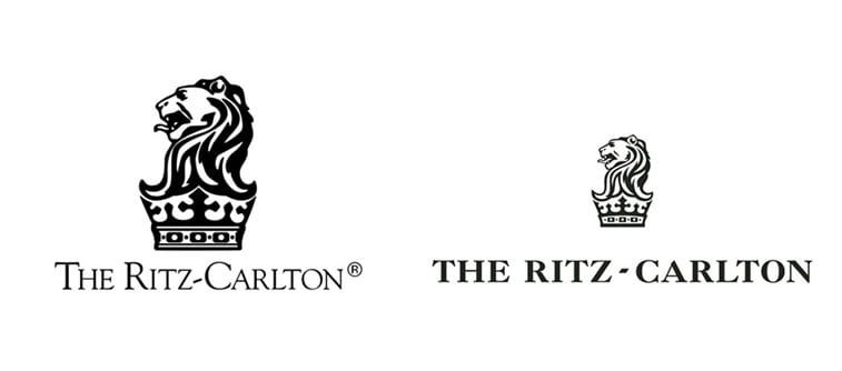 subtle and successful logo evolutions ritz carlton