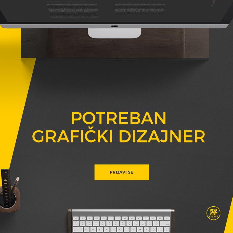 Potreban grafički dizajner u PopArt Studiju