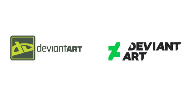 deviant art logo redesign