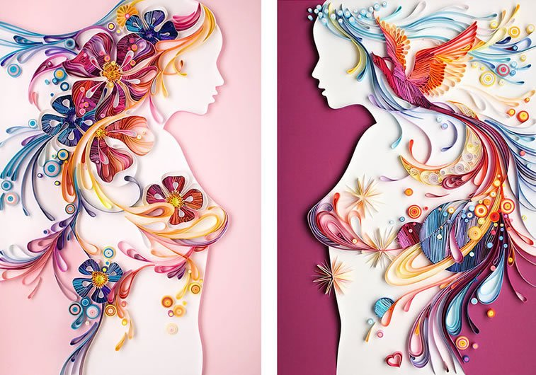 zanimljivi svet papirnih ilustracija Julije Brodskaje 2