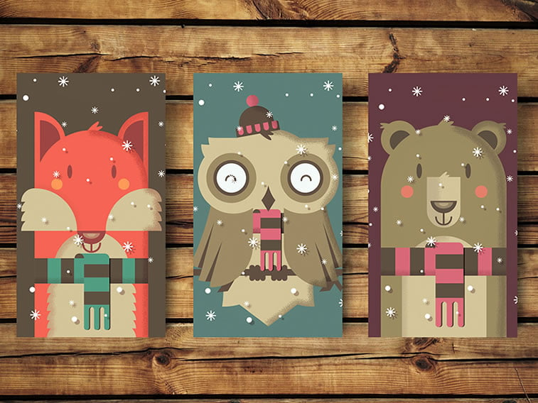 3 christmas cards design bojan oreskovic