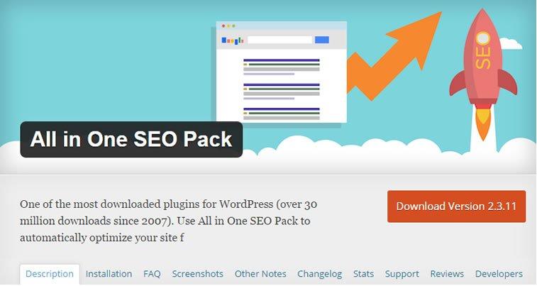 seo plugin all-in-one SEO for wordpress