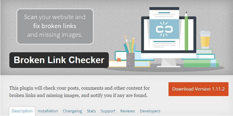 wordpress seo plugin broken link checker