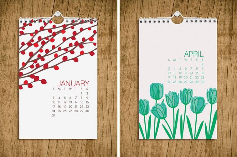 Kreativni primeri dizajna kalendara 17
