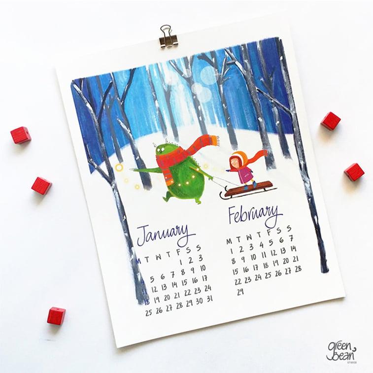 Kreativni primeri dizajna kalendara 29