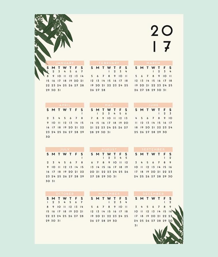 Kreativni primeri dizajna kalendara 5