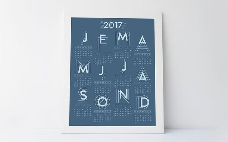 Kreativni primeri dizajna kalendara 7