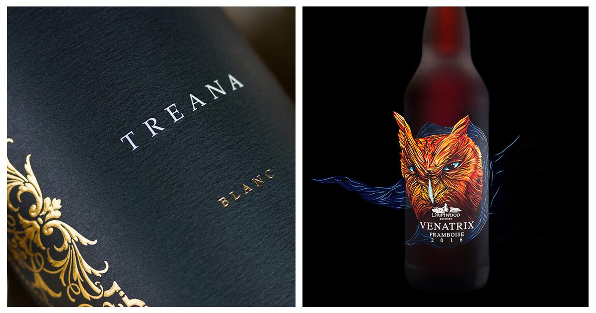 Label design inspiration for alcoholic beverages