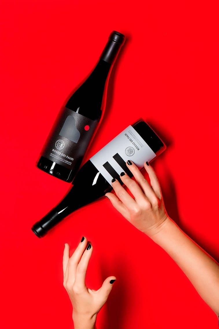 label design rosso dei fauri 1