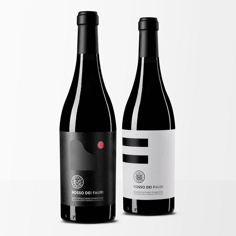label design rosso dei fauri 2