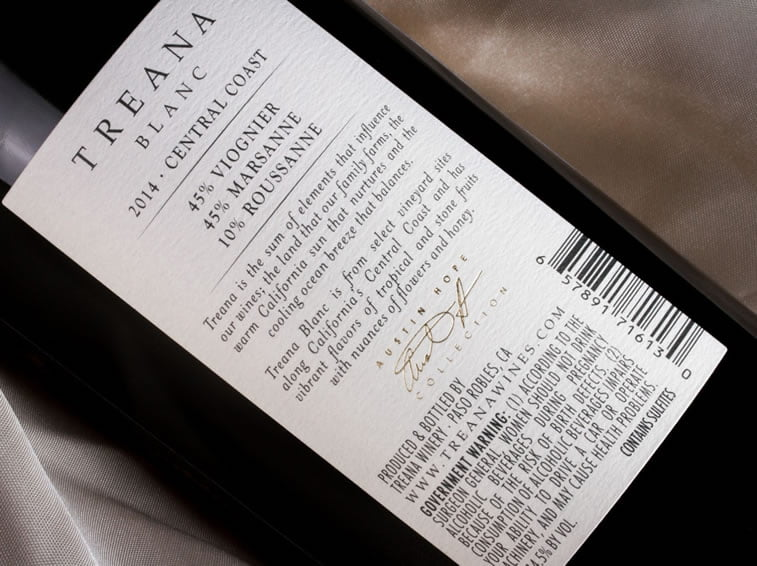 label design treana blanc 3