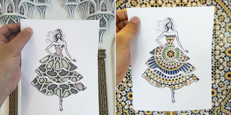 Neobični dizajn haljina od papira Šameka Bluvija 1