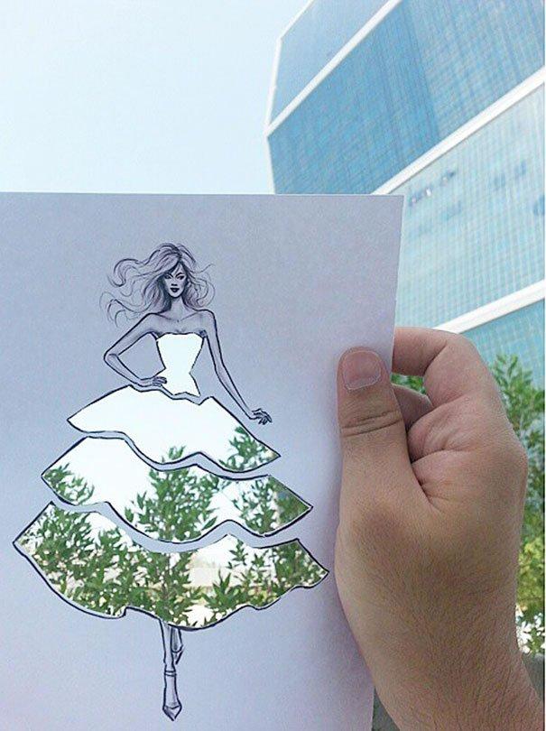Neobični dizajn haljina od papira Šameka Bluvija 12