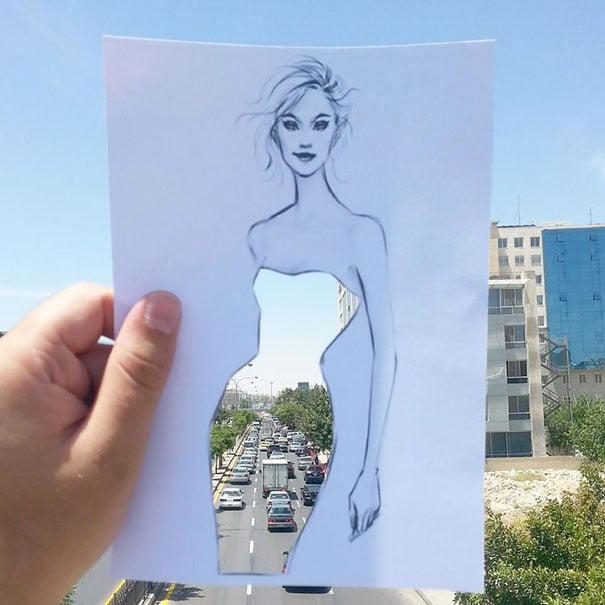 Neobični dizajn haljina od papira Šameka Bluvija 13