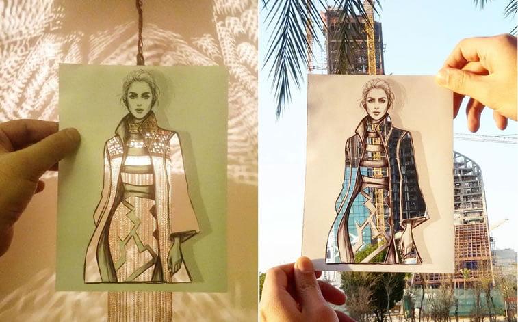 Neobični dizajn haljina od papira Šameka Bluvija 9