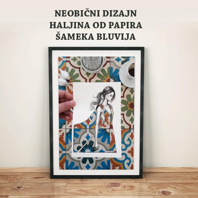 Neobični dizajn haljina od papira Šameka Bluvija