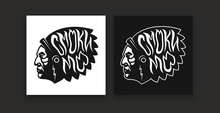 wiktor ares logo smoki mo black n white
