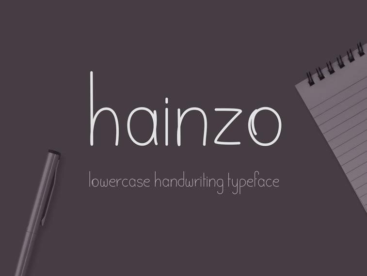 4 free handwritten font hainzo