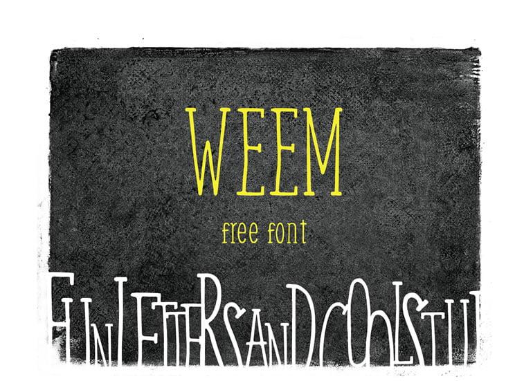 5 free handwritten font weem
