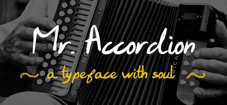 6 free typeface mr accordion