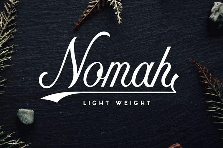7 free script font nomah