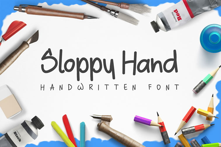 8 free script font sloppy hand