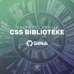 Najpopularnije CSS biblioteke na repozitorijumu GitHub 757