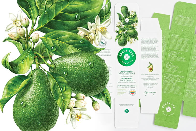beauty products packaging design green feel 1
