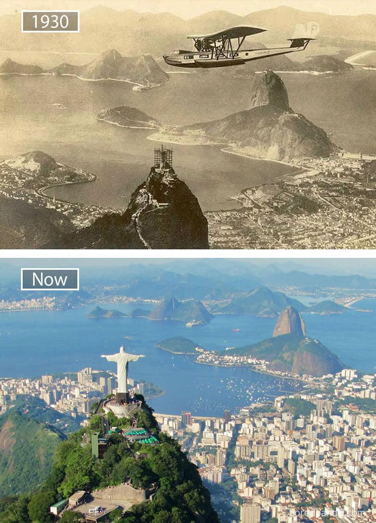 Fotografije svetskih metropola nekad i sad (2. deo) 11