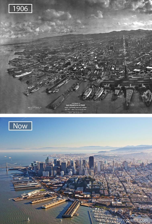 Fotografije svetskih metropola nekad i sad (2. deo) 12