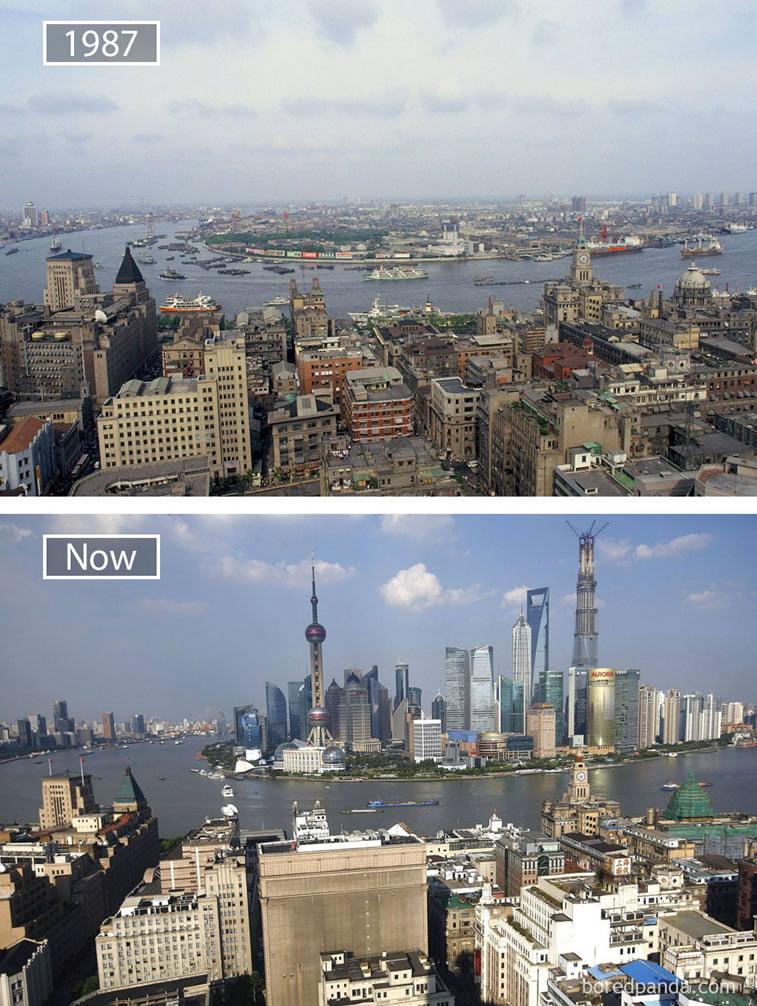 Fotografije svetskih metropola nekad i sad (2. deo) 13