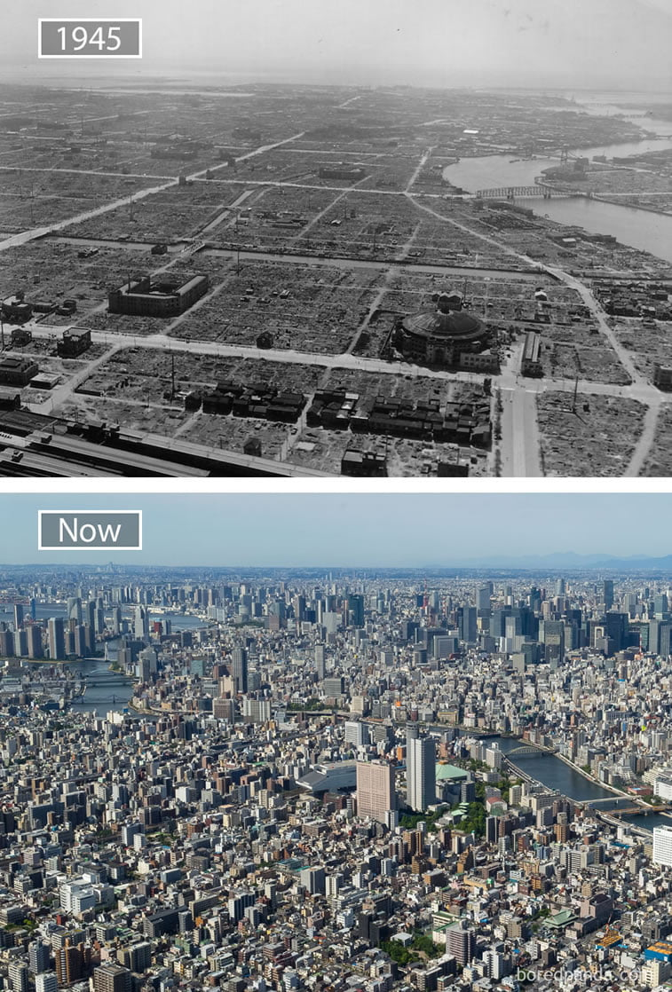 Fotografije svetskih metropola nekad i sad (2. deo)15