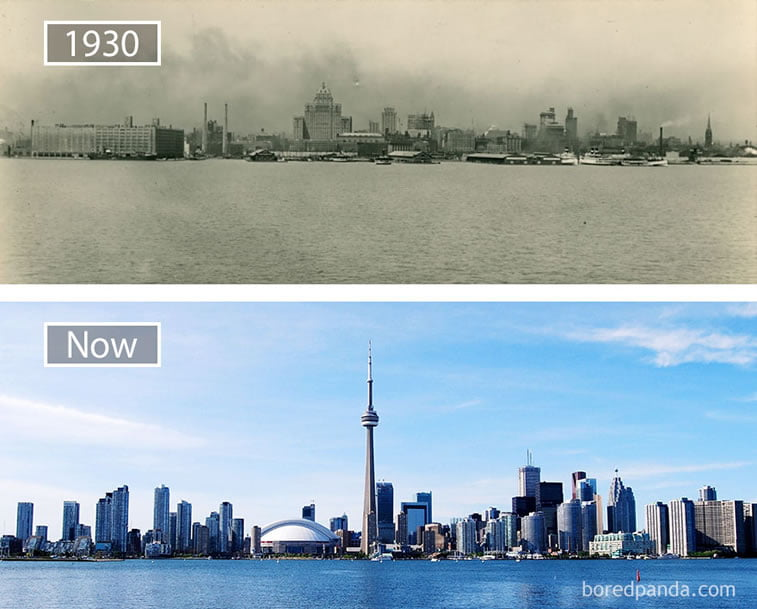 Fotografije svetskih metropola nekad i sad (2. deo)16