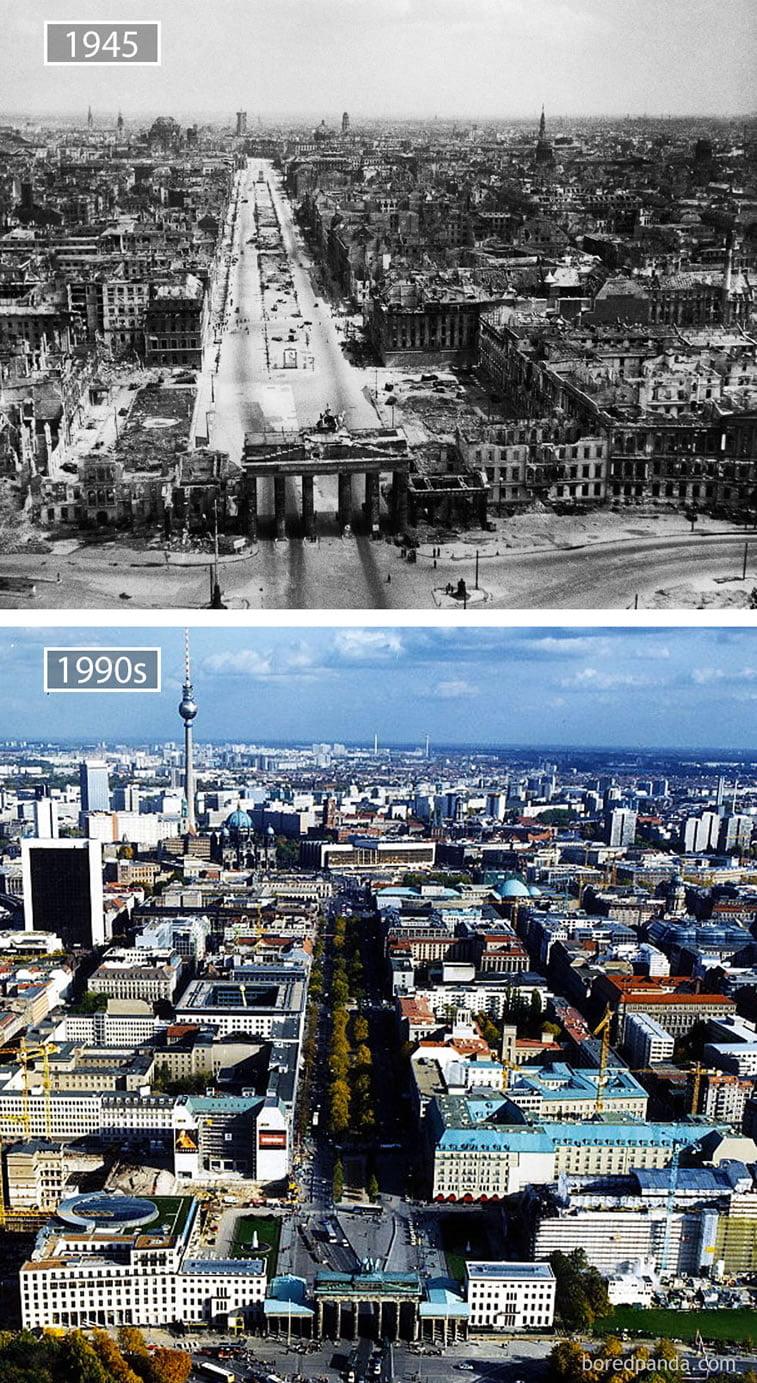 Fotografije svetskih metropola nekad i sad (2. deo) 2