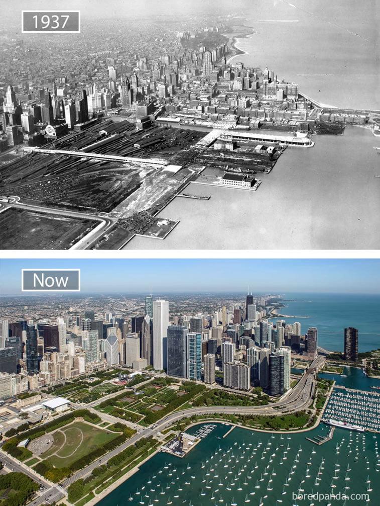Fotografije svetskih metropola nekad i sad (2. deo) 3