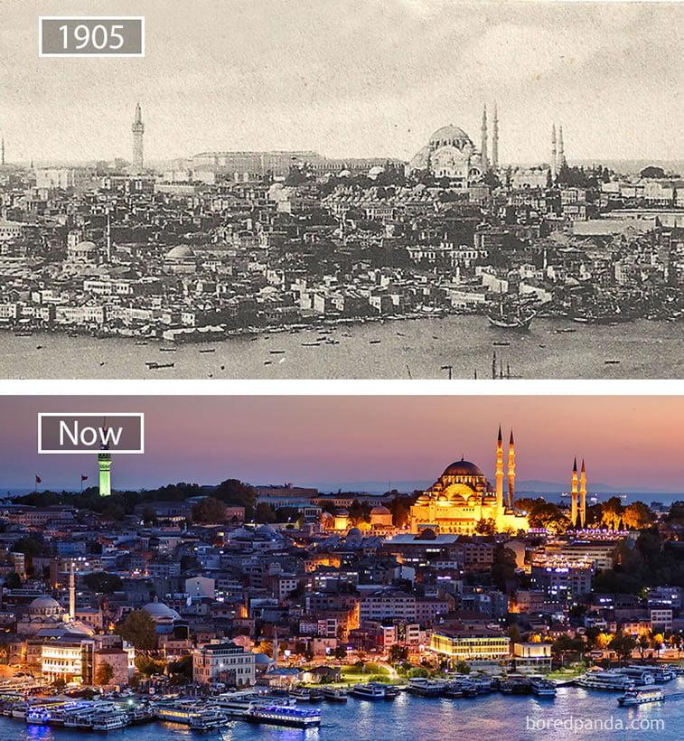 Fotografije svetskih metropola nekad i sad (2. deo) 5