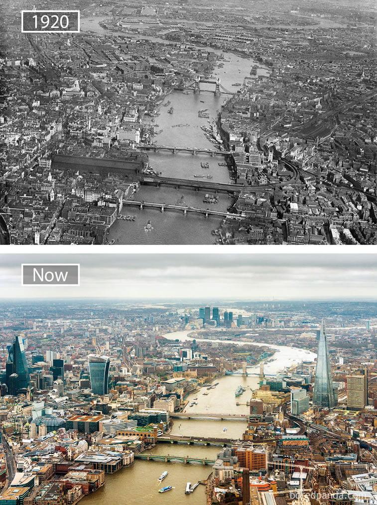 Fotografije svetskih metropola nekad i sad (2. deo) 6