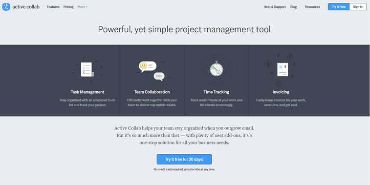 best web design project management tools active collab