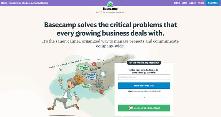 best web design project management tools basecamp