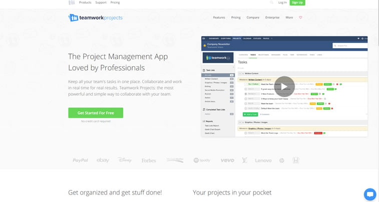 best web design project management tools teamwork projects