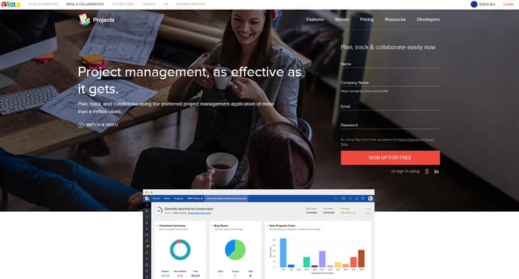 best web design project management tools zoho