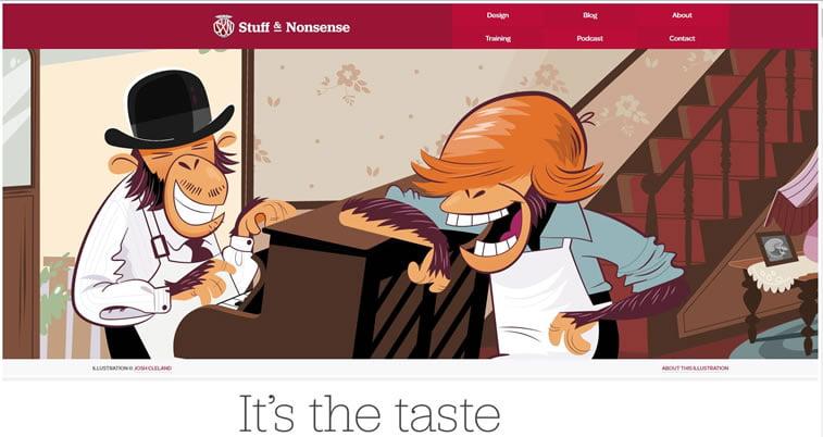 Dobri primeri ilustrovanih vebsajtova 5