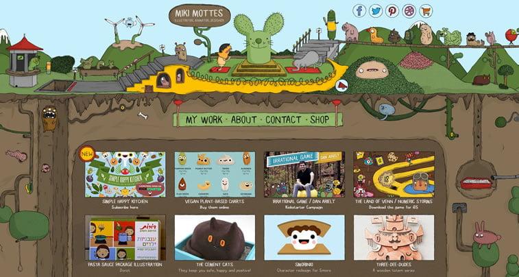 Dobri primeri ilustrovanih vebsajtova 8