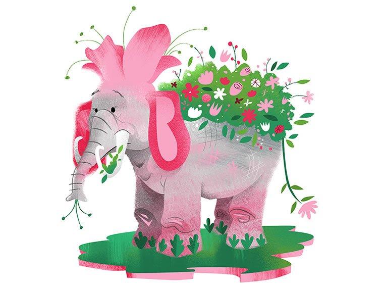 eleflower elephant+flower