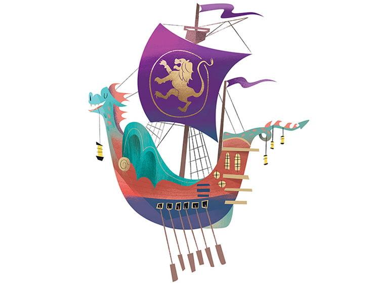 the dawn trader ship design