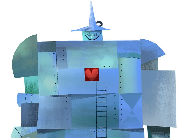 tin man heart detail
