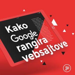 Kako Gugl rangira vebsajtove