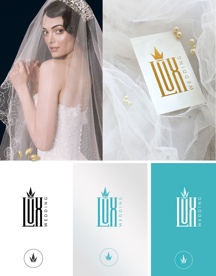 lux wedding logo mockup